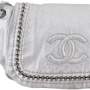 Chanel Luxe Ligne Accordion Flap Silver